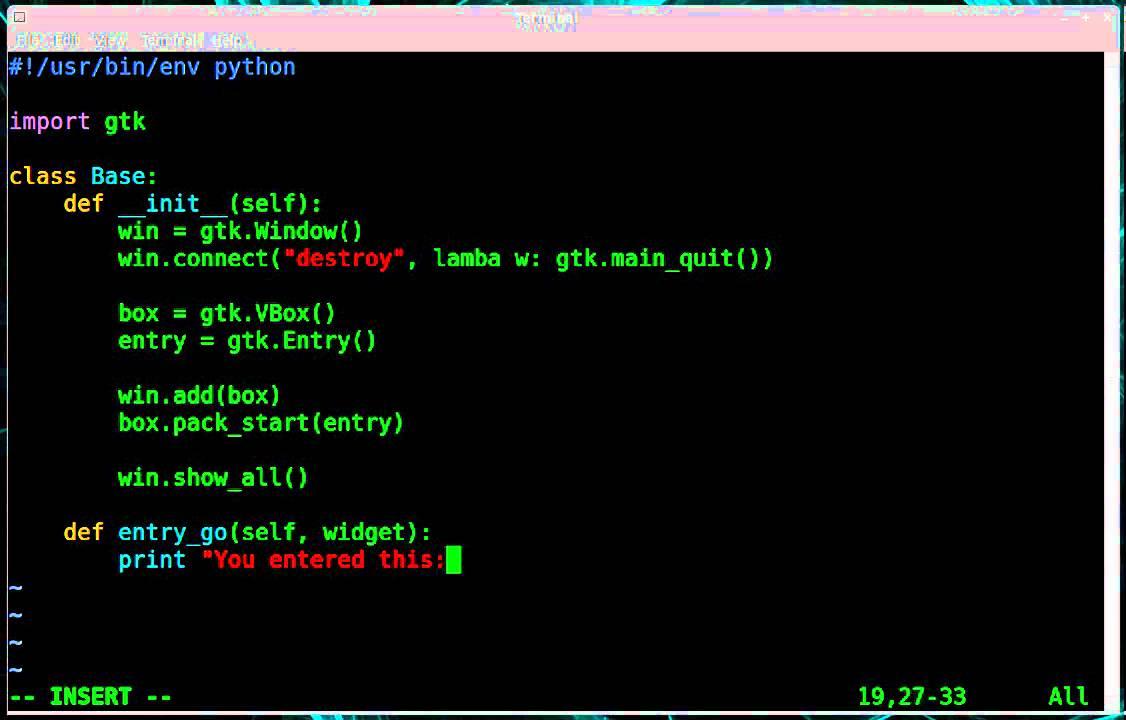 Python - GTK GUI - Activate Enter Key Press