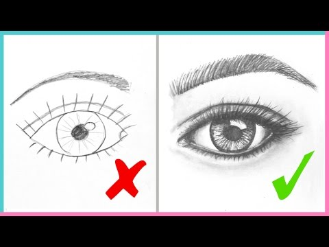 DOs & DON'Ts: How to Draw Realistic Eyes Easy Step by Step | Art Drawing Tutorial