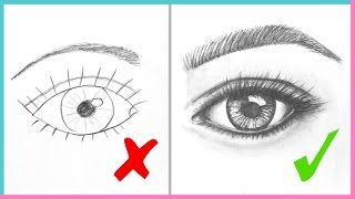 dos donts how to draw realistic eyes easy step by step art drawing tutorial