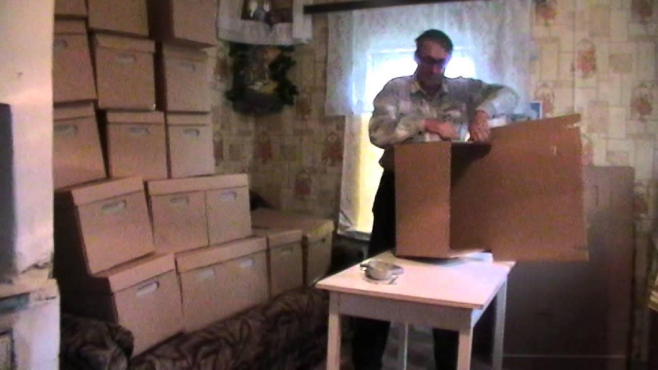 Картонные пакеты для пчёл. - YouTube