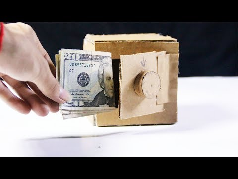 How To Make Mini Safe Lock Box Save Money From Cardboard Easy At Home