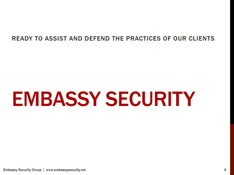 Embassy Security Group - Security Solutions for the Medical Cannabis
