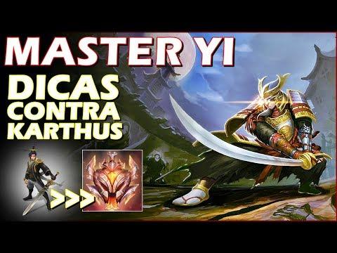 MASTER YI vs KARTHUS RANKED GRÃO-MESTRE(CHALLENGER)! DICAS DE COMO JOGAR CONTRA KARTHUS! MatheusBT
