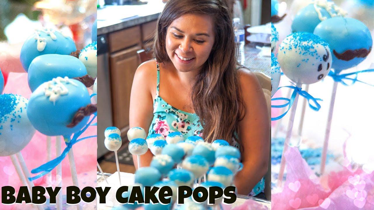 Make Cake Pops Baby Boy Shower