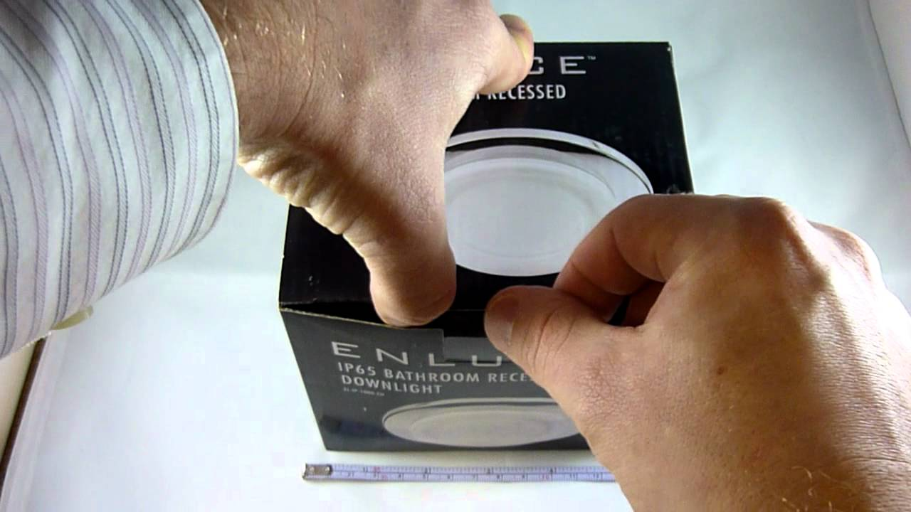 endon lighting el ip 1000 wh white ip65 downlighter spot. Black Bedroom Furniture Sets. Home Design Ideas