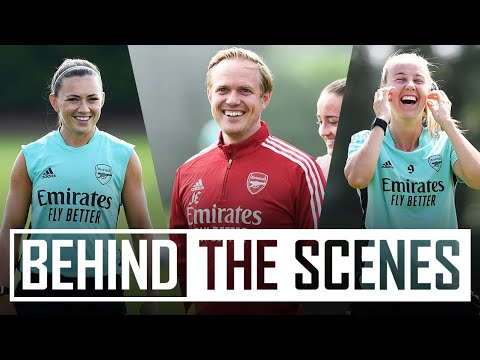 Jonas Eidevall takes his first training session   Behind the scenes at Arsenal training centre