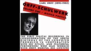 Carl Orff - Stücke für Flöte und Trummel - Erster Kanon