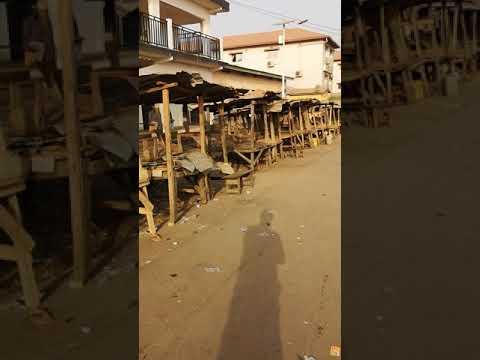 Market Gueckedou Guinea februari 2020
