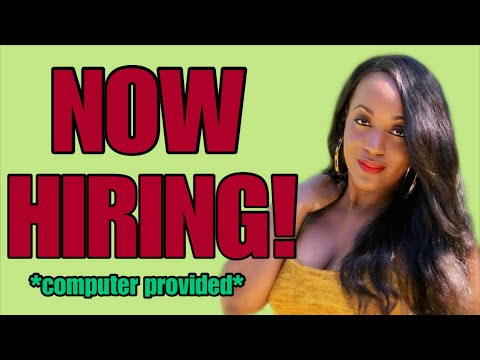 Computer Provided! New Work From Home Job ~ 1-15-2020