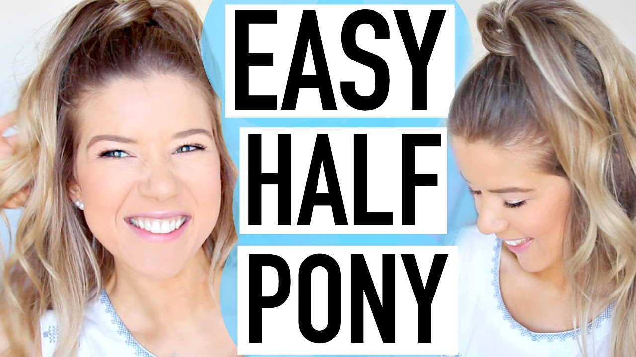 Easy Spring Hairstyle Half Up Ponytail Youtube