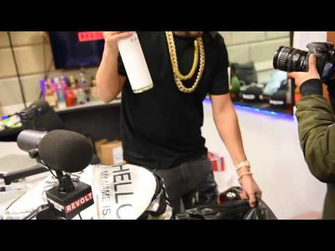 French Montana Sh*ts on 50 Cent's Liquor 'EFFEN VODKA' and throws it in the TRASH!