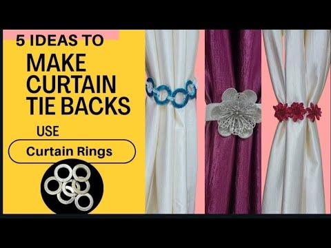 dollar tree diy glam curtain tie backs