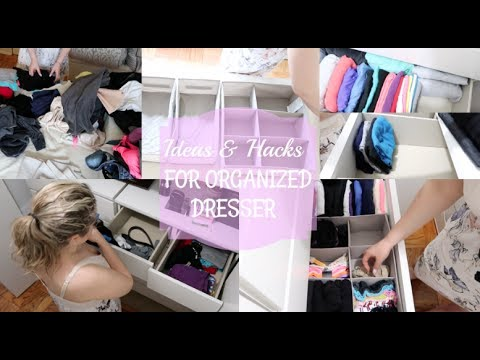 IDEAS & HACKS FOR ORGANIZED DRESSER II How I Organize My Master Bedroom Dresser
