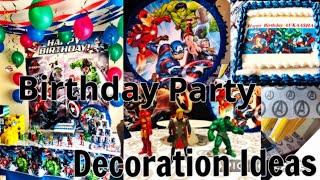superHero Birthday Party Theme idea For boys | Aukaasha's 5th Birthday party decoration and GIFTS