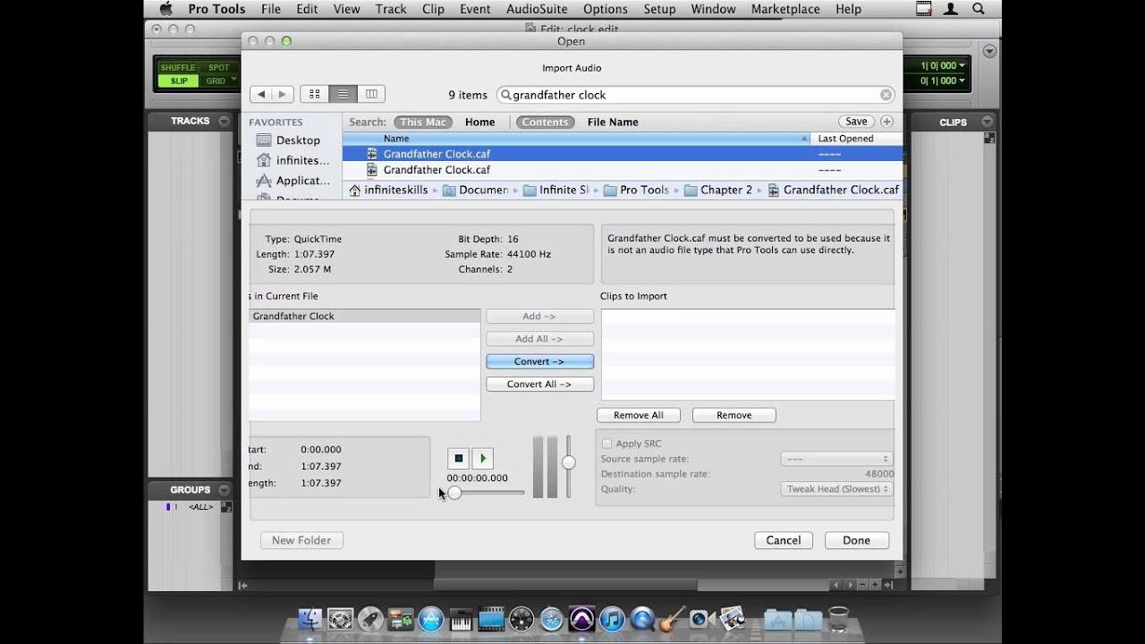 Avid Pro Tools 10 Tutorial | Importing Audio