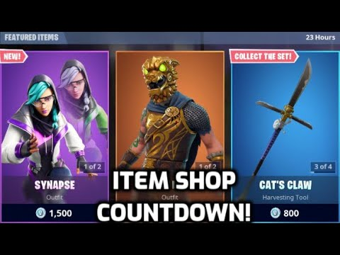 *New* Fortnite Synapse Set! (Item Shop Countdown Live)