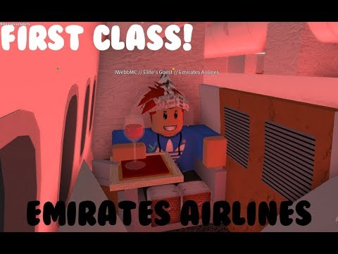 ROBLOX Emirates FIRST CLASS! B777 flight