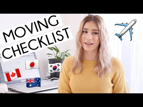 MOVING CHECKLIST & HOW TO MOVE OVERSEAS