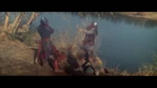 Властелин войны/Warlord 1965 Бой нормандских рыцарей с фризами