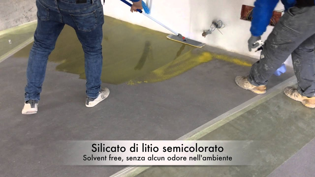 Pittura Pavimento Cemento : Velatura colorata per pavimenti in calcestruzzo youtube