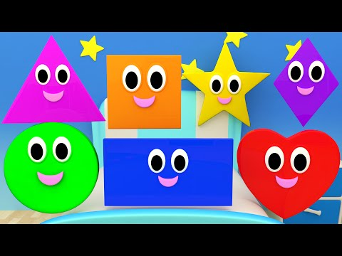 Shapes Songs | Nursery Rhymes For Kids And Children | Learn Shapes By Kids TV