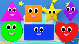 Shapes Songs | Nursery Rhymes For Kids And Children | Learn Shapes
