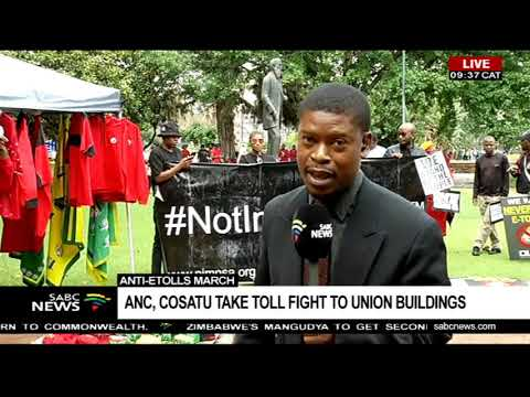 Anti-etolls march  | ANC, COSATU take toll fight to Union Buildings