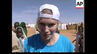 UN envoy and US actress Mia Farrow visits Darfur camps