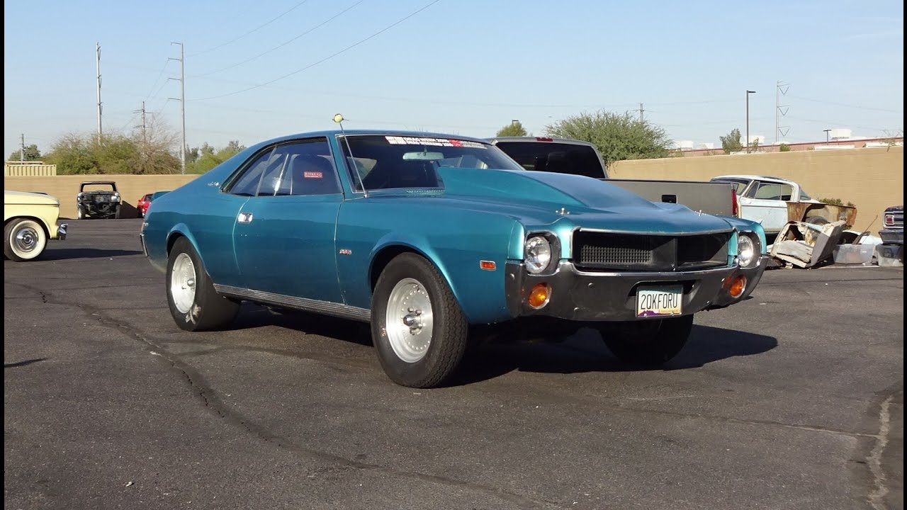Wheel Standing 700HP 1969 AMC Javelin SST 401 Engine Sound On My Car Story With Lou Costabile