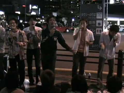 Japan - Acapella Street performers in Kyoto