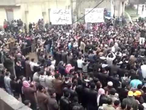 درعا حوران تسيل  جمعة دعم الجيش الحر  وتحية الاحرار    ج4 13 1 2012