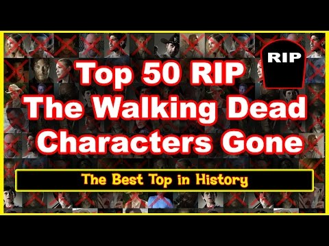 The Walking Dead Characters Deaths   Personajes Muertos 2017