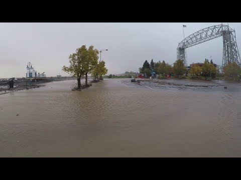 Canal Park Flood and Big Waves!
