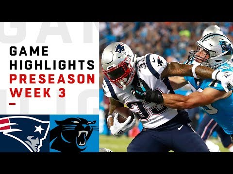 Patriots vs. Panthers Highlights | NFL 2018 Preseason Week 3 streaming vf