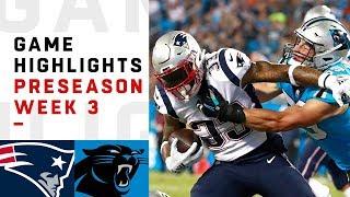 Patriots vs. Panthers Highlights | NFL 2018 Preseason Week 3