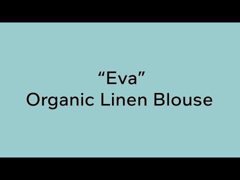 "100% Organic Linen Blouse Plus Curvy Size ""Eva"" By Rawganique"