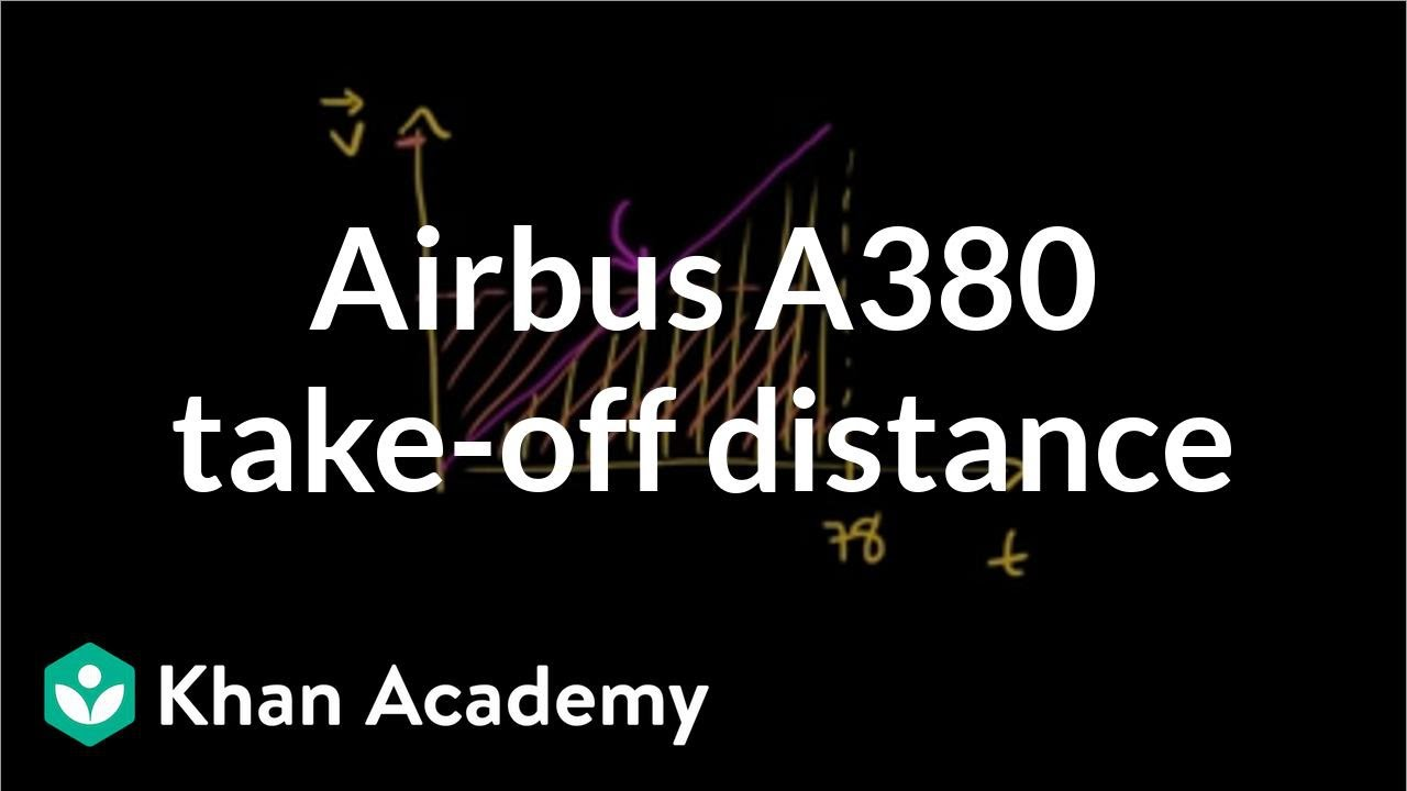 Airbus A380 take-off distance (video) | Khan Academy