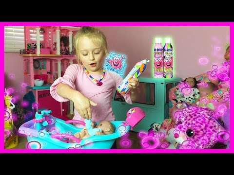 Mr Bubble Magic Crackles Bath Baby Alive Lil Cutesies Dolls Bathtub Fun W/ Toy Babies Tub and Shower