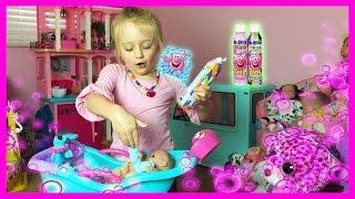 Mr Bubble Magic Crackles Bath Baby Alive Lil Cutesies Dolls Bathtub Fun W/ Toy Babies Tub and Shower