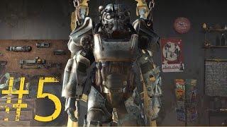 Fallout 4 5. Power Armor. Залезаем в силовую броню - теснотища