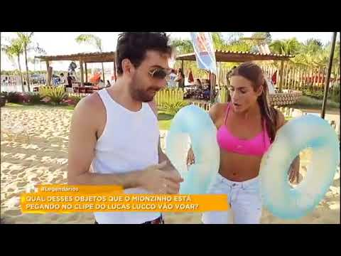 """Mionzinho mostra os bastidores do novo clipe de Lucas Lucco e """"rouba"""" objetos da gravação"""