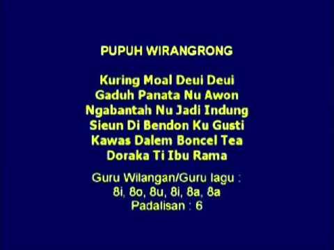 Lagu Sunda dengan Lirik | PUPUH WIRANGRONG