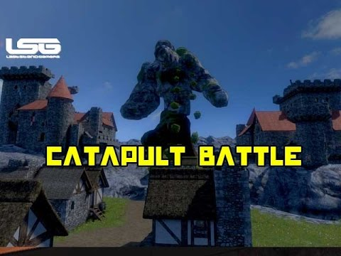 Medieval Engineers - Catapult Battle , Destroying Castles