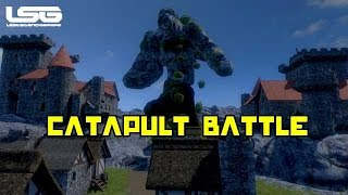 Medieval Engineers - Catapult Battle , Destroying Castles