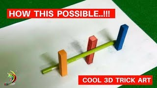 How this possible ?.!!  Watch easy 3d trick art | Cool 3d trick art - Prank Video