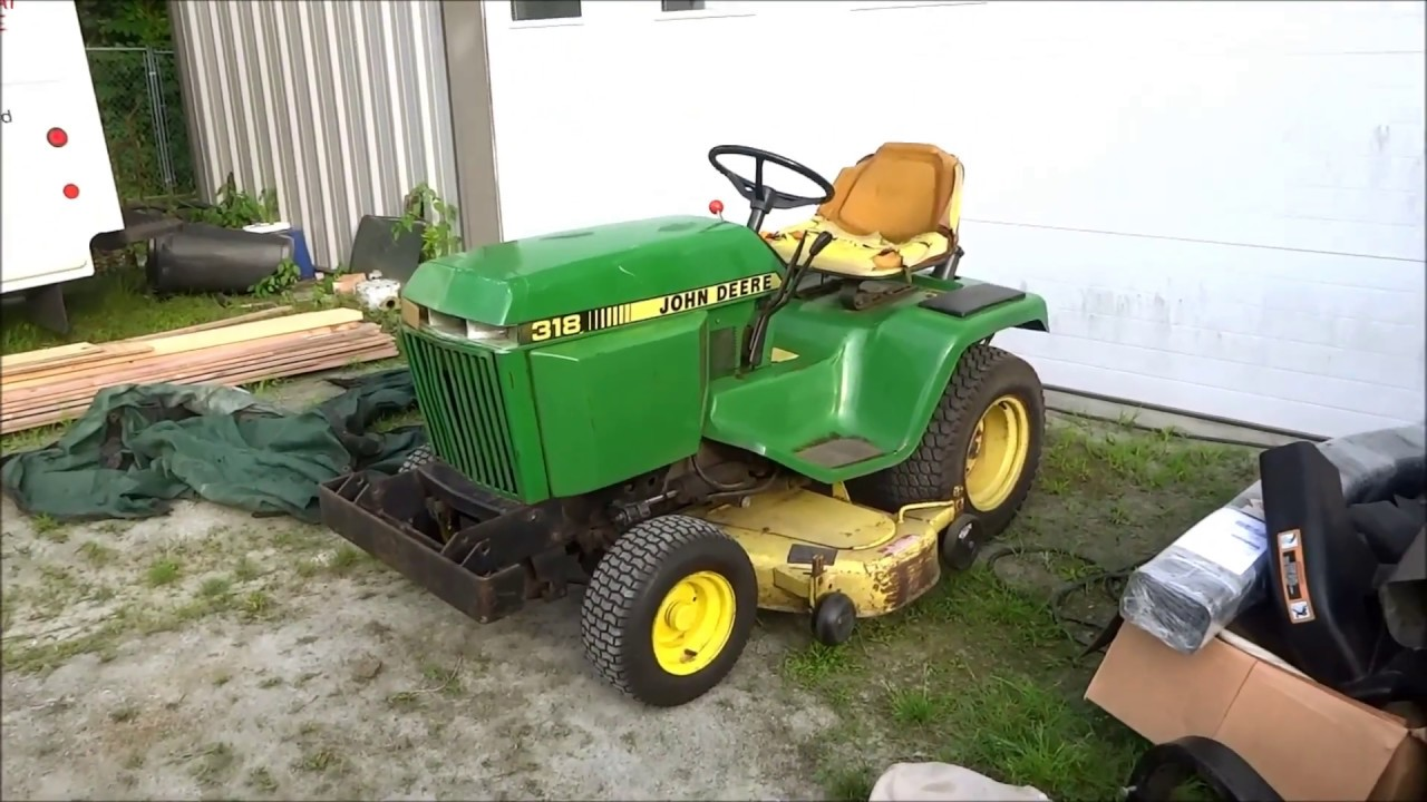 hight resolution of old john deere 318 parts tractor picked up