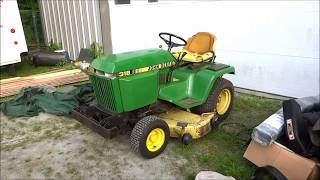 old john deere 318 parts tractor picked up