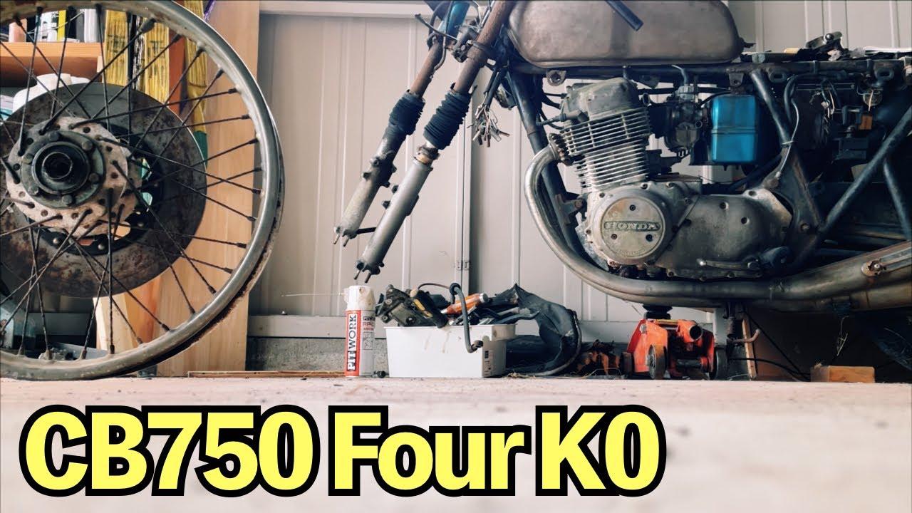 【CB750four】バイクのタイヤ交換は思ったよりも難しい