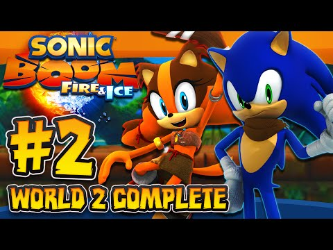 Sonic Boom Fire & Ice (3DS) - (1080p) Part 2 - World 2 COMPLETE Seaside Island
