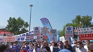 DİSK ve Türk-İş'ten kıdem tazminatının fona dönüştürülmesine tepki